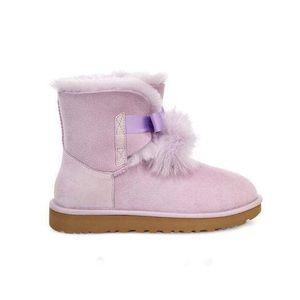 Women's UGG Lavender fog Pom Pom Boots new